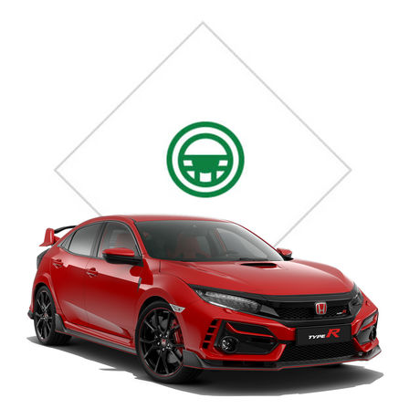 Honda Civic Type R, Frontansicht.