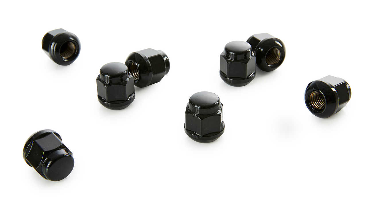 Black Wheel Nuts of Honda Civic Type R.