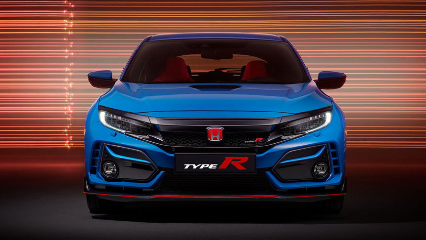 Honda Civic Type R GT in Blau, Frontansicht