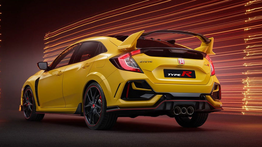 Honda Civic Type R Limited Edition, 3/4-Heckansicht