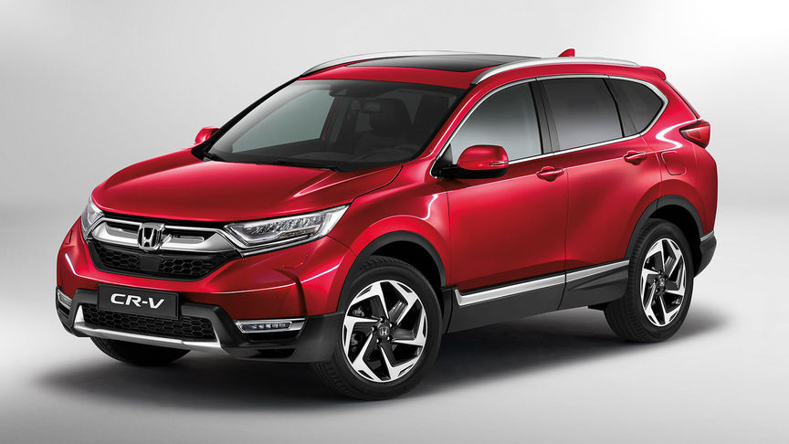 Honda CR-V in 3/4-Frontansicht.