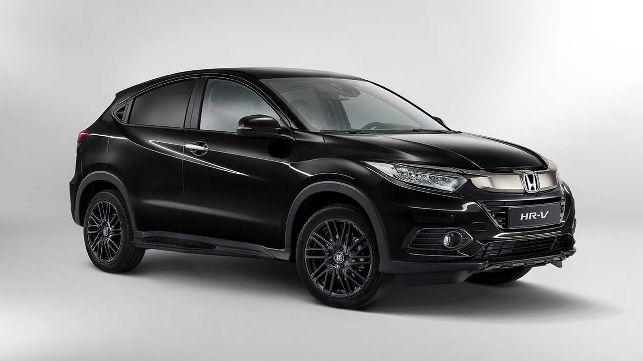 Honda HR-V Black Edition, 3/4-Frontansicht.