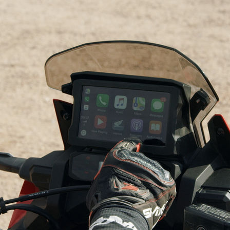 Honda Africa Twin Adventure Sports, Nahaufnahme des TFT-Displays